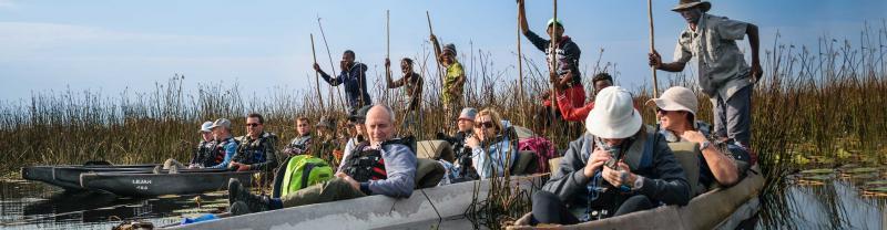 Relax on the Okavango Delta in Botswana
