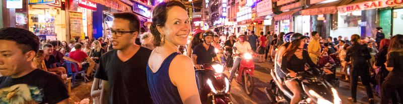 Immerse yourself in the hustle and bustle of Vietnam