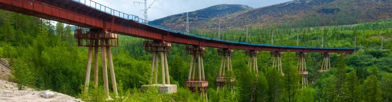 Travel on the Baikal Amur Railway in Russia