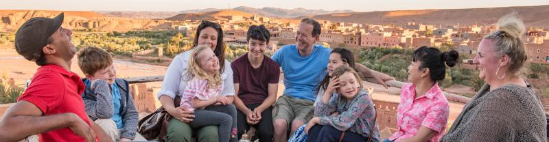 Morocco, Ait Benhaddou, Family