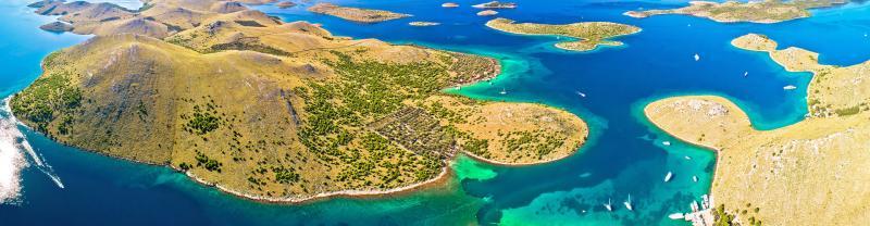 Aerial view of the Kornati Islands, Dalmatia Coast, Croatia
