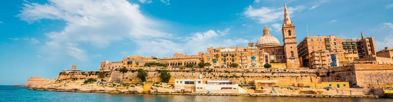 Valletta skyline from the sea, Malta