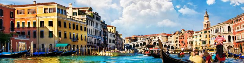 ZMPXC - Grand canal and gondolas in Venice, Italy