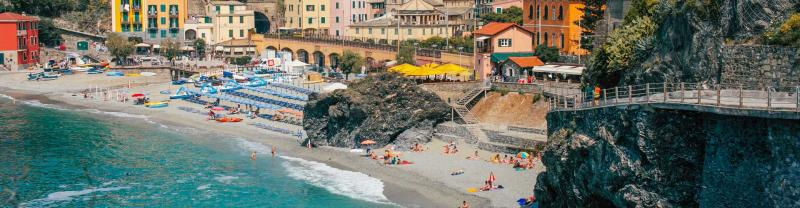Colourful houses and coastline of Cinque Terre