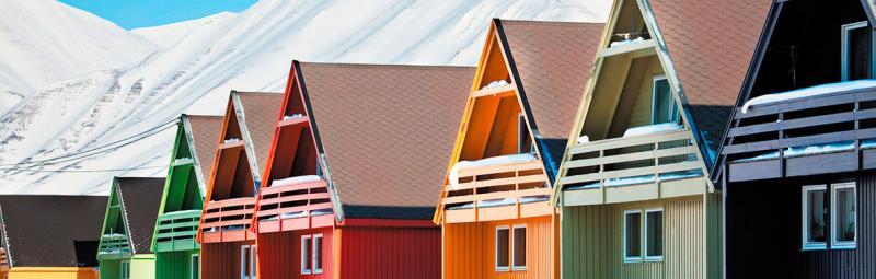 Spitsbergen Longyearbyen Houses