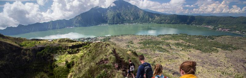 Hikers at Mount Batur in Bali