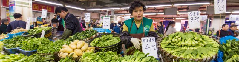 Explore the delicious fresh produce at a Shanghai market in China
