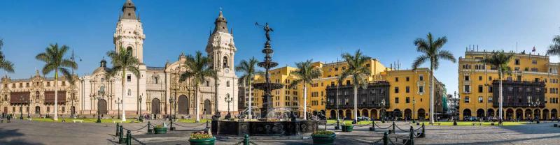 Colourful architecture of Lima