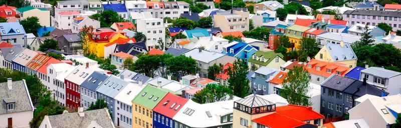 Iceland, colourful Reykjavik