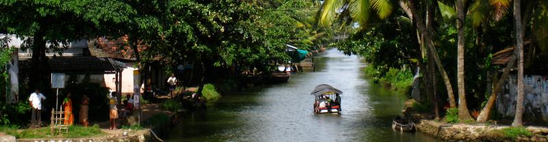 Beautiful Kerala Backwaters, India