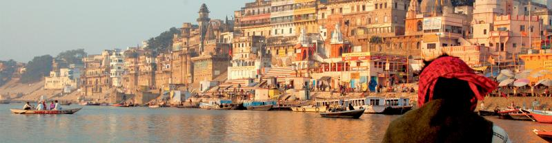 india varanasi ganges sunrise view