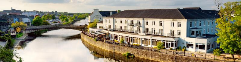 Beautiful view of Kilkenny and the river Nore in Ireland