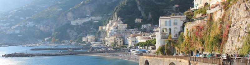 Amalfi coast landscape view