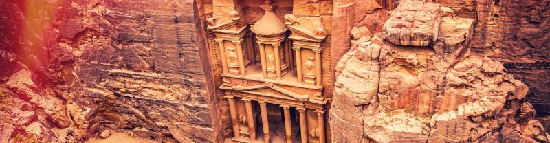 Jordan Petra Aerial Rocks