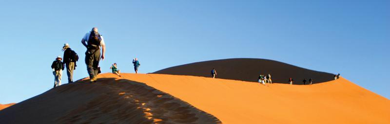Trekking in Nambi desert, Sossusvlei