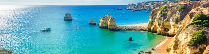 Beautiful beach side in Portugal