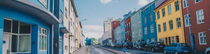 Colourful buildings in Reyjkavik, Iceland