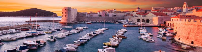The Yachts and some historical buildings in Croatia