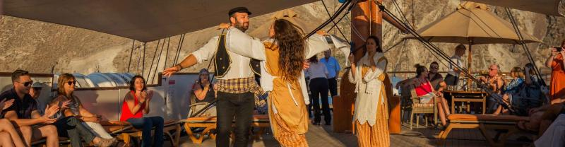 Dancing at a festival in Greece