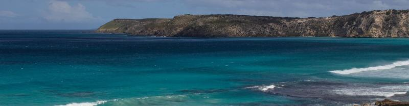 The ocean surrounding Kangaroo Island, South Australia