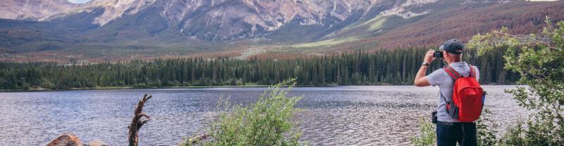 Lake and mountain in Jasper, Canada