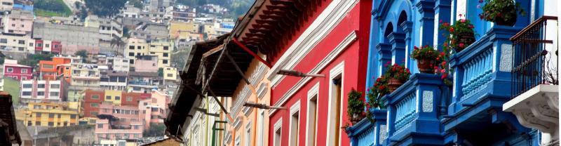 Colorful Architecture in Quito Ecuador