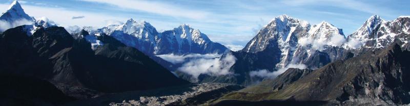 Panoramic view of Himalayan mountains, Nepal