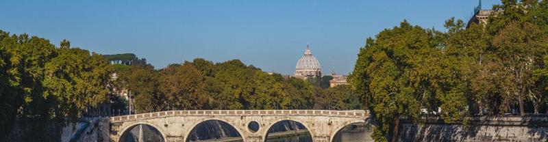 Vatican Bridge Landscape in Rome, Italy