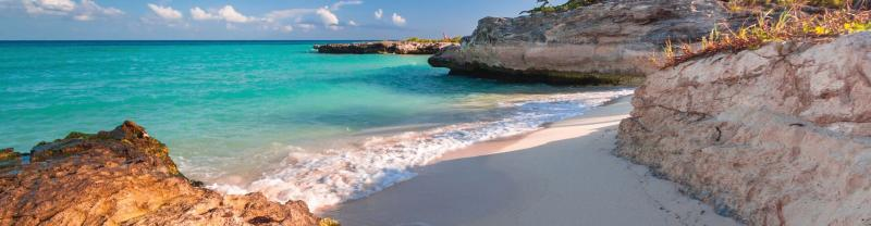 Beach in Playa del Carmen, Mexico