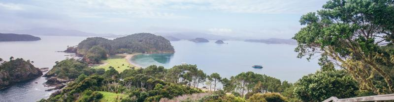 Bay of Islands in New Zealand's North Island