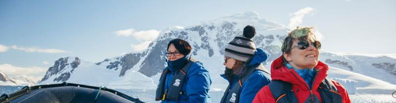 Mandi and other travellers in Antarctica