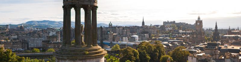 Dugald Stewart Monument on Edinburgh's Calton Hill