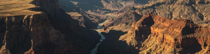 A bird's eye view of the Grand Canyon National Park, Arizona