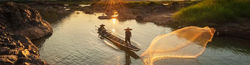 Mekong Delta at sunset, Vietnam