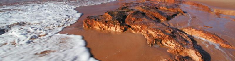 Red sand beach in Western Australia
