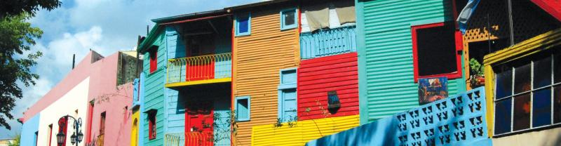 Colourful houses in Buenos Aires