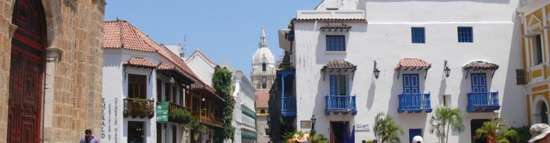 Colourful streets of Cartagena, Colombia