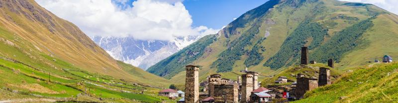 Ushguli in the Caucasus Mountains