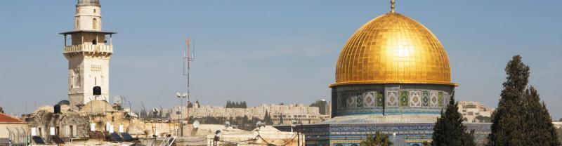 Golden dome in Jerusalem
