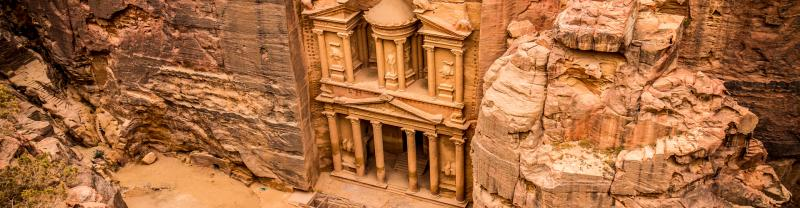See the treasury rock in Petra, Jordan on a Petra tour with Intrepid