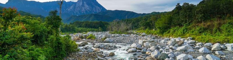A natural landscape in Kota Kinabalu, Malaysia