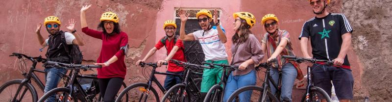A cycling tour in Marrakech, Morocco