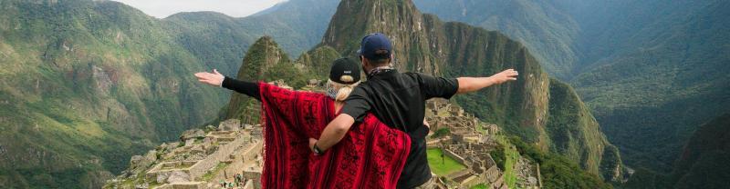Travellers at Machu Picchu