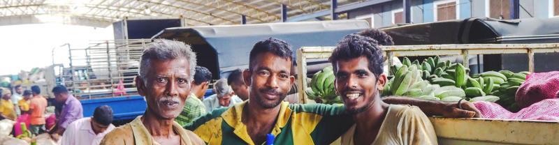 Locals in the market in Sri Lanka