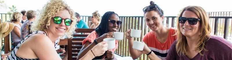 Drinking tea in Sri Lanka