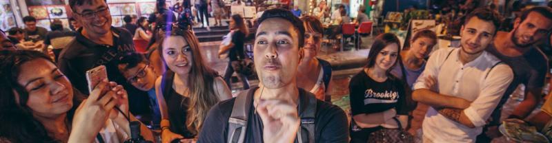 Night food market in Bangkok, Thailand