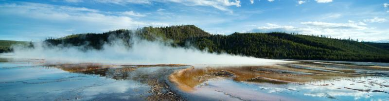 One of the many geothermal features in Yellowstone National Park