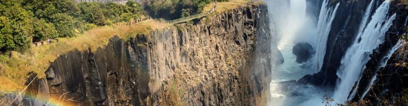 Victoria Falls waterfall in Zambia