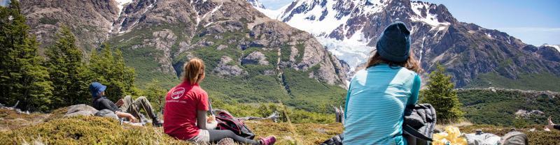 Hikers in Patagonia