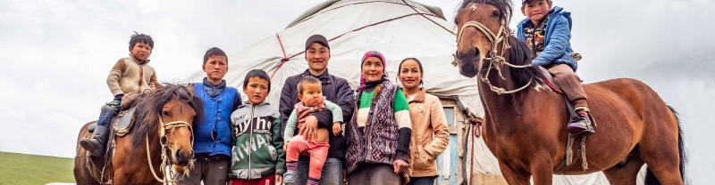 Local Mongolian family